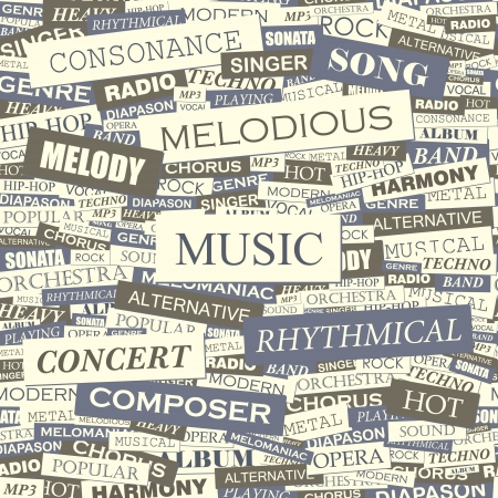 MUSIC  Seamless vector pattern Vector