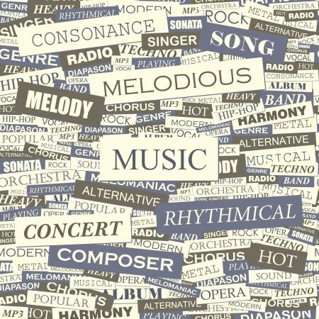 heavy metal music: MUSICA modello vettoriale senza soluzione di continuit�