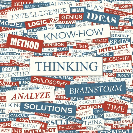 pensamiento creativo: PENSANDO vector patr�n Seamless