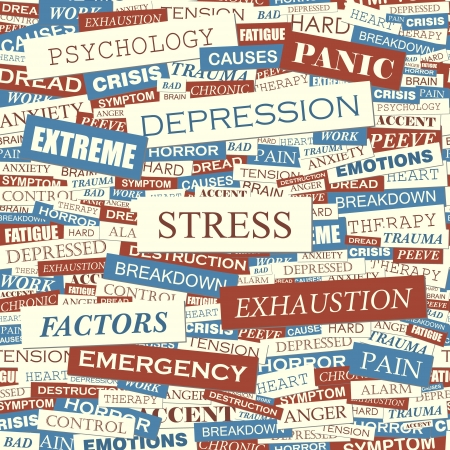 consternation: STRESS  Seamless vector pattern