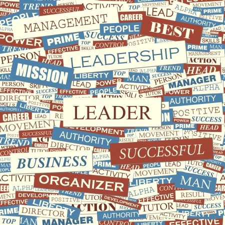 best leadership: LEADER Word collage Seamless pattern vector Vettoriali