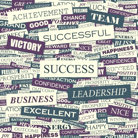 SUCCESS  Seamless pattern Vector