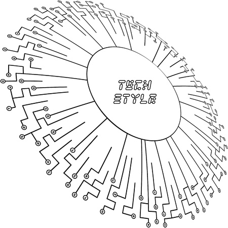 electronic scheme: Abstract scheme  Illustration