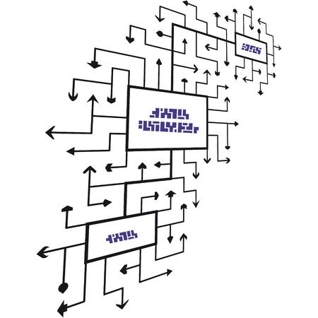 electronic scheme: Abstract scheme  Vector illustration