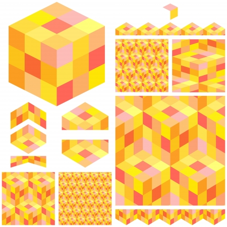 hexagonal pattern: Abstract hexagon mosaic  Illustration