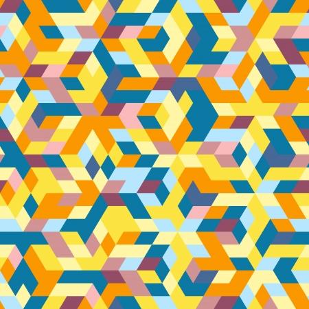 Abstract hexagon mosaic
