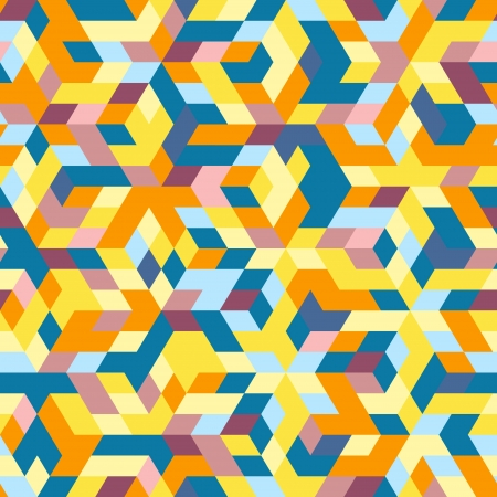 visual art: Abstract hexagon mosaic