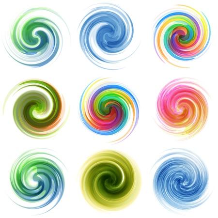 Swirl elements�for design  Vector illustration    Ilustração