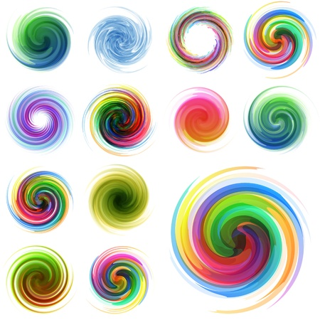flow of colors: Swirl element set for design