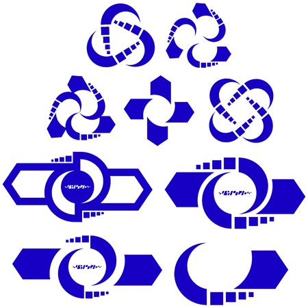peace movement: Recycle symbol  Vector set  Illustration