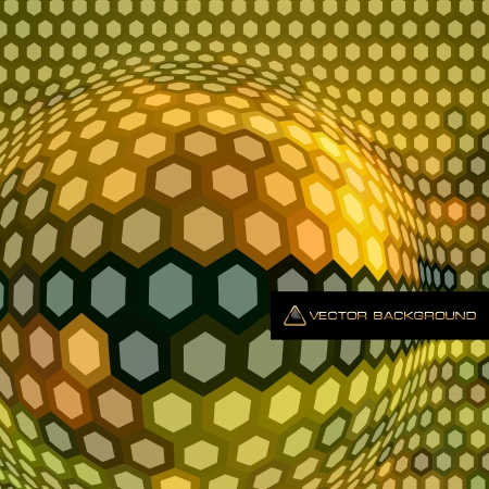 Abstract hexagon mosaic    Vector