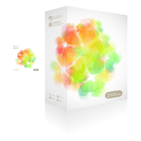 size distribution: Vector packaging box  Abstract illustration  Illustration