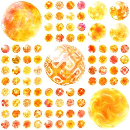 sun glass: Colecci�n abstracta Great set soleado Vectores