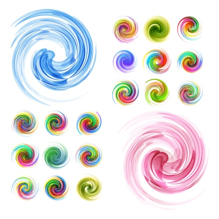Colorful element set  Vector collection   Vector