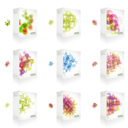 Vector packaging box  Abstract illustration  Vector