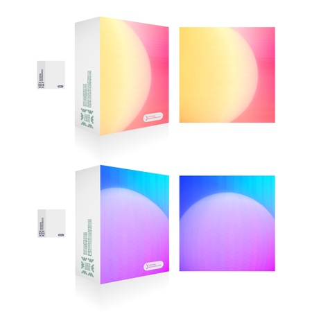 size distribution:  packaging box  Abstract illustration