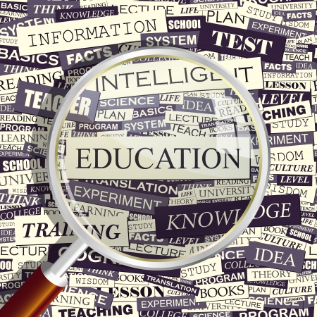 erudition: EDUCATION  Word collage