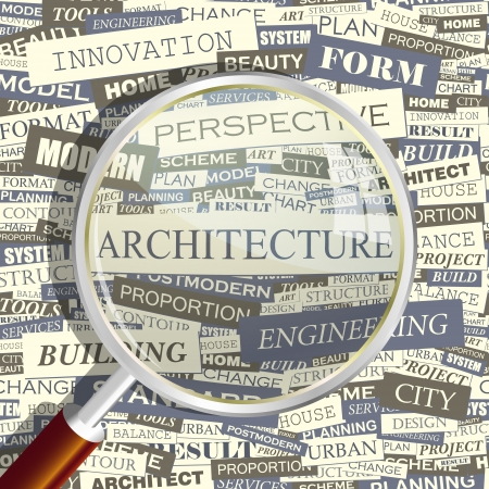 systematization: ARCHITECTURE  Word collage Illustration