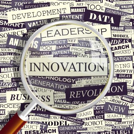 innoveren: INNOVATIE Word collage