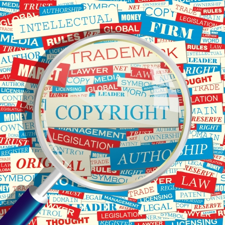 trademark: COPYRIGHT  Word collage Illustration