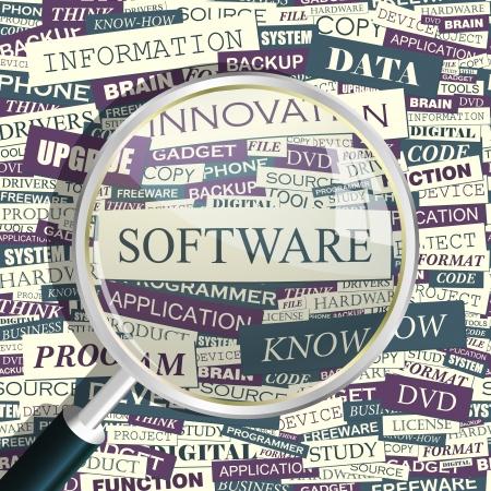 sistema operativo: SOFTWARE collage Palabra