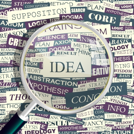 IDEA  Word collage Vector