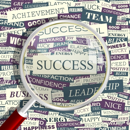 SUCCESS  Word collage Vector