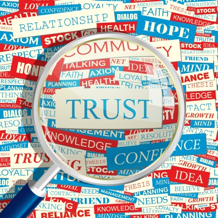 TRUST  Word collage Vector