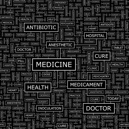 MEDICINE  Seamless pattern Vector