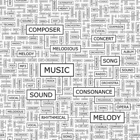 lyric: MUSIC  Seamless pattern
