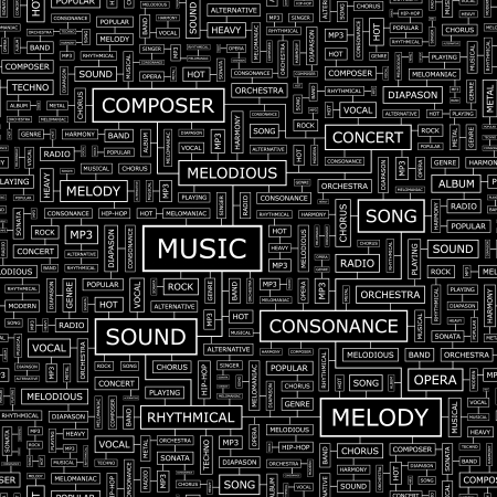 vocal: MUSIC  Seamless pattern