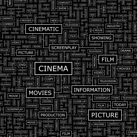 cinematograph: CINEMA  Seamless pattern