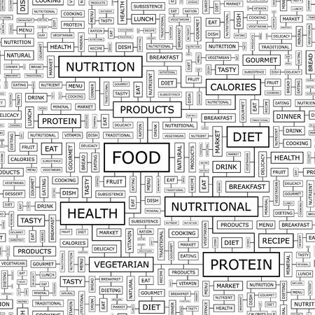 keywords backdrop: FOOD  Seamless vector pattern