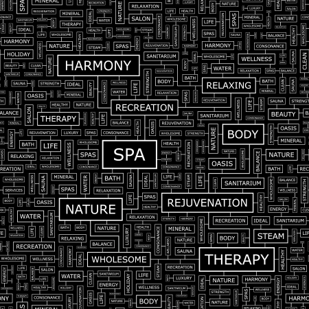 SPA  Seamless vector pattern Illustration