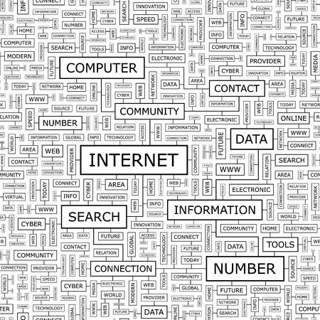 millions: INTERNET  Seamless pattern