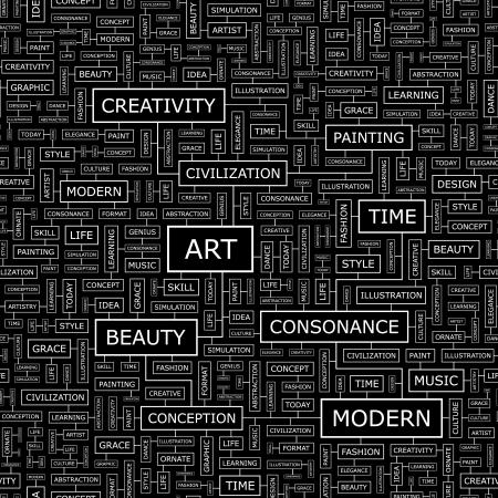 artist painting: ART  Seamless pattern