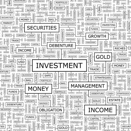 equity: INVESTMENT  Seamless vector pattern