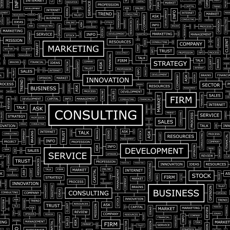 it tech: CONSULTING  Seamless vector pattern Illustration