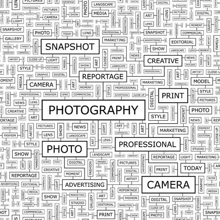 keywords backdrop: PHOTOGRAPHY  Seamless vector pattern Illustration
