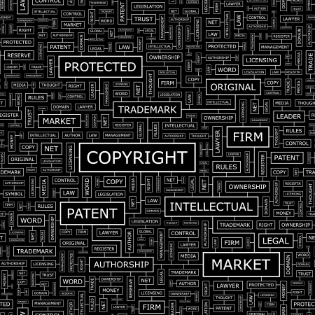 authorship: COPYRIGHT  Seamless vector pattern