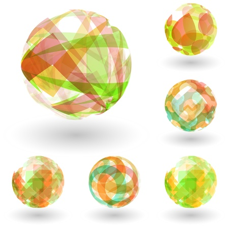 rainbow sphere: Abstract globe set