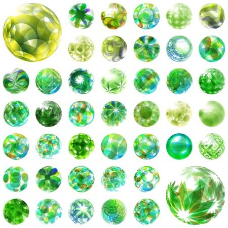Abstract globe set  Vector ecology illustration  Green energy Stock Vector - 17430903