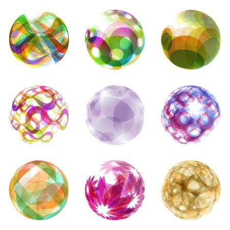 Set of vector glass stones