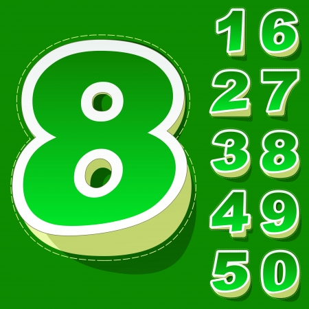 seventh: Numbers  Vector illustration   Illustration