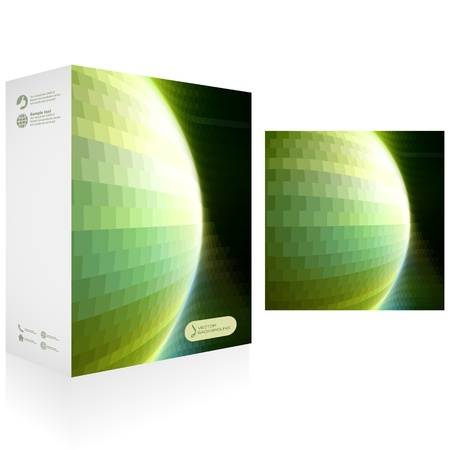 size distribution: Vector packaging box