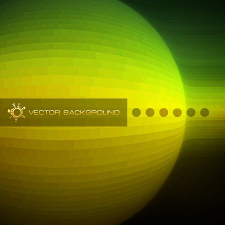 original circular abstract: Vector creative background for business Illustration