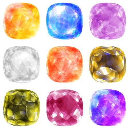 scintillation: Jewel set  Vector illustration