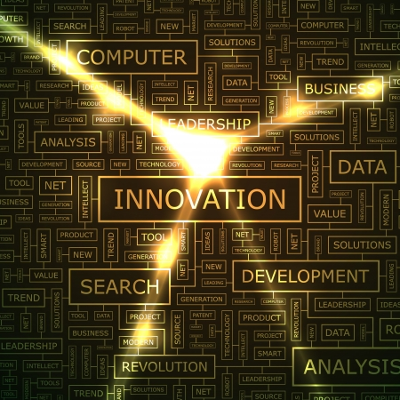 INNOVATION  Word collage  Vector