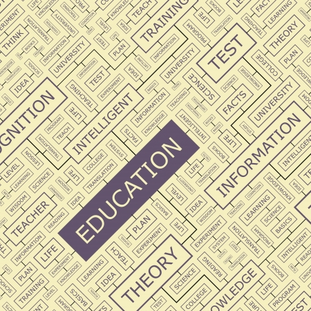 EDUCATION  Word collage Vector