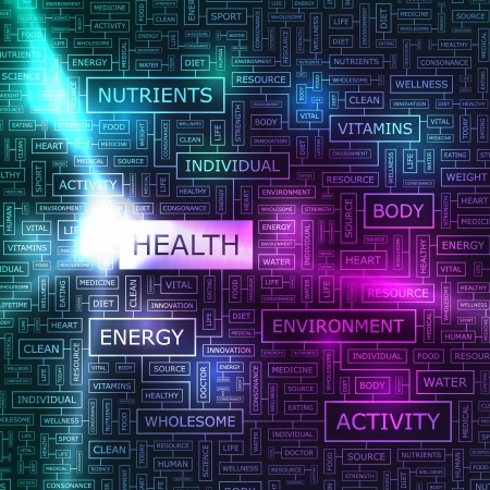 HEALTH  Word collage Vector